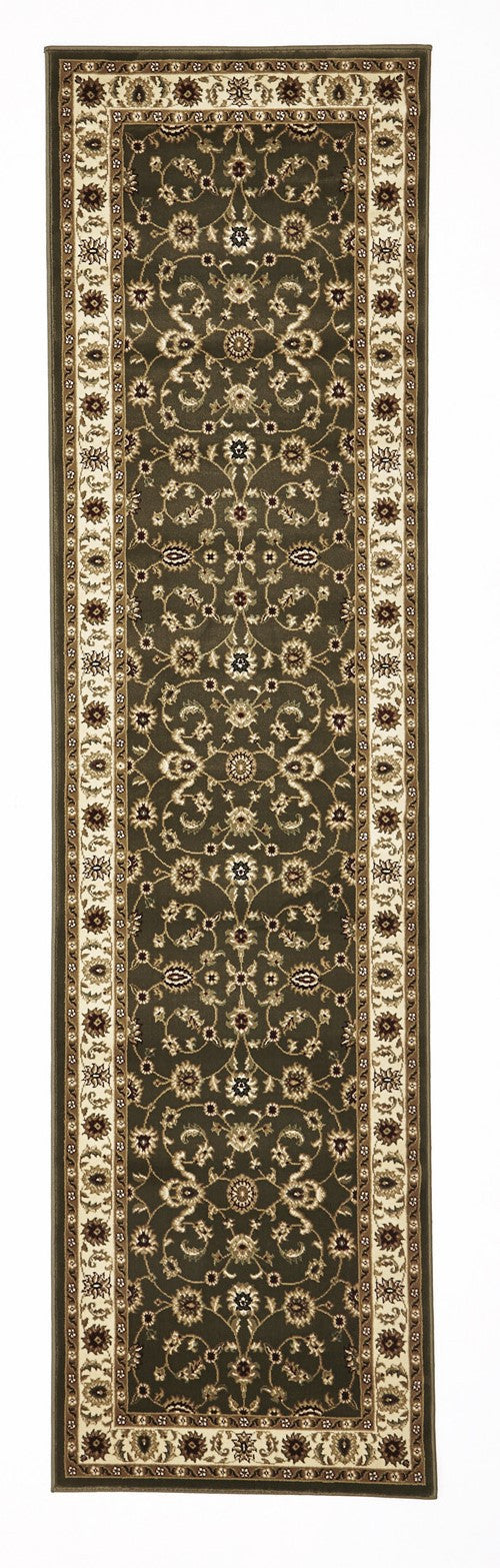 Sydney Classic Rug Green with Ivory Border - aladdinrugs - 6