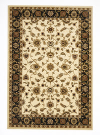 Sydney Classic Rug Ivory with Black Border - aladdinrugs - 1