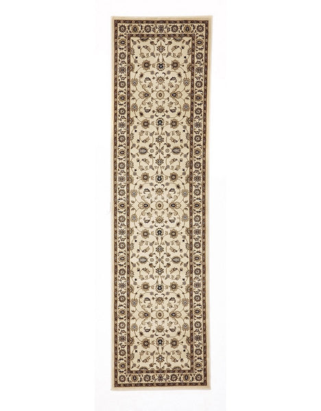 Sydney Classic Rug Runner Ivory with Ivory Border