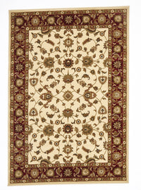 Sydney Classic Rug Ivory with Red Border - aladdinrugs - 1