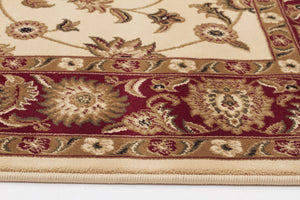 Sydney Classic Rug Ivory with Red Border - aladdinrugs - 3
