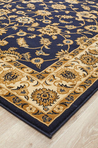 Sydney Classic Rug Blue with Ivory Border