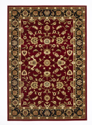 Sydney Classic Rug Red with Black Border - aladdinrugs - 1