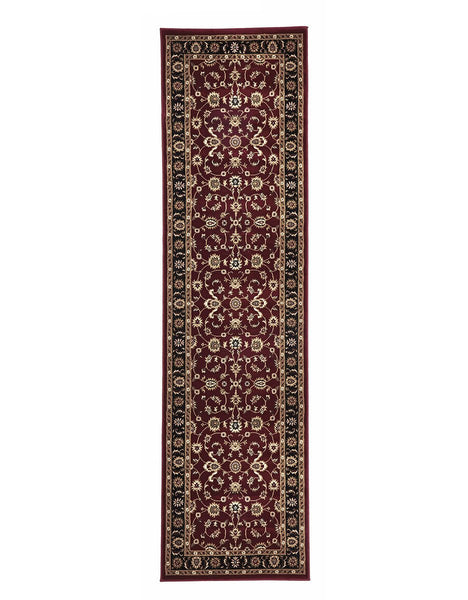 Sydney Classic Rug Runner Red with Black Border