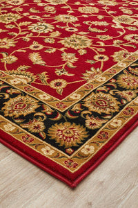 Sydney Classic Rug Red with Black Border