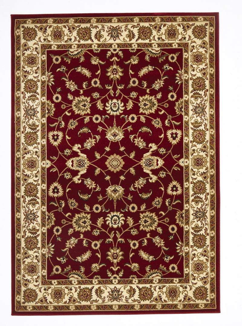 Sydney Classic Rug Red with Ivory Border - aladdinrugs - 1