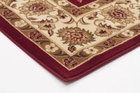 Sydney Classic Rug Red with Ivory Border - aladdinrugs - 2