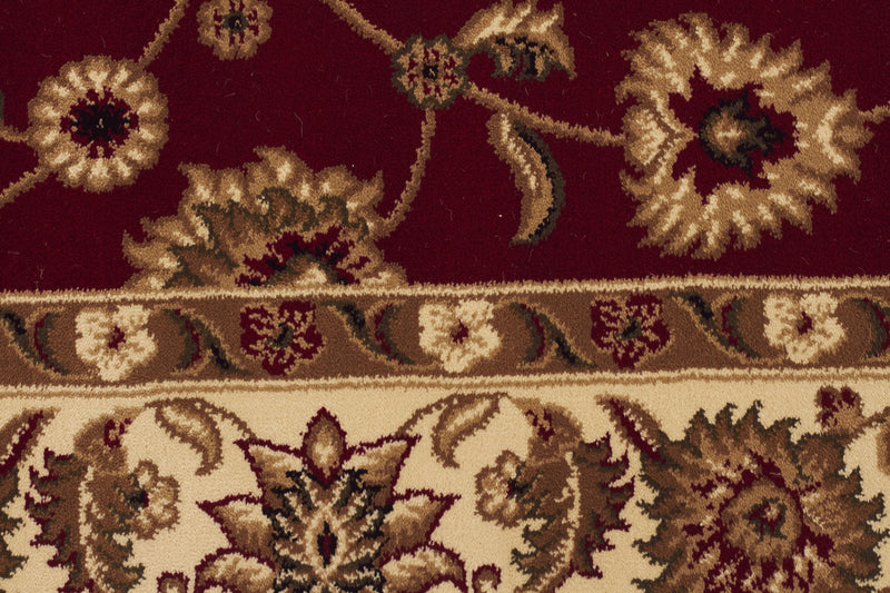 Sydney Classic Rug Red with Ivory Border - aladdinrugs - 4