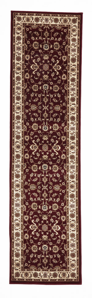 Sydney Classic Rug Red with Ivory Border - aladdinrugs - 6