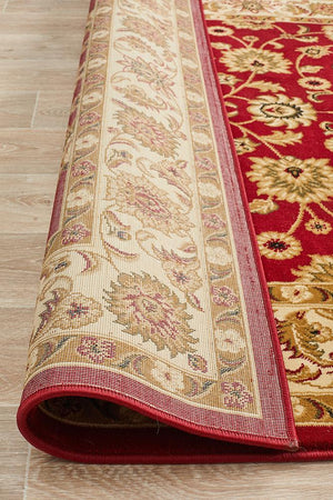 Sydney Classic Rug Red with Ivory Border