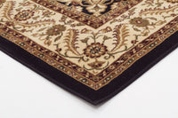 Sydney Medallion Rug Black with Ivory Border - aladdinrugs - 2