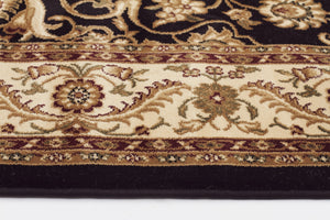 Sydney Medallion Rug Black with Ivory Border - aladdinrugs - 3