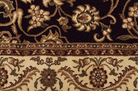 Sydney Medallion Rug Black with Ivory Border - aladdinrugs - 4