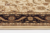 Sydney Medallion Rug Ivory with Black Border - aladdinrugs - 2