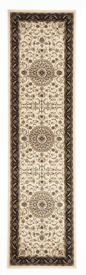 Sydney Medallion Rug Ivory with Black Border - aladdinrugs - 5