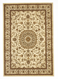 Sydney Medallion Rug Ivory with Ivory Border - aladdinrugs - 1