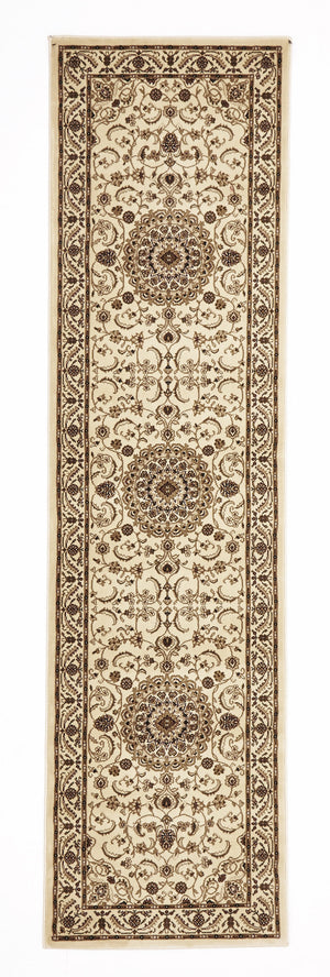 Sydney Medallion Rug Ivory with Ivory Border - aladdinrugs - 6