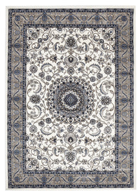 Sydney Medallion Rug White with Beige Border - aladdinrugs - 1