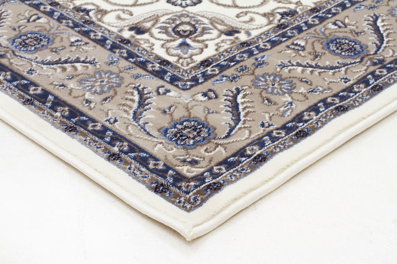 Sydney Medallion Rug White with Beige Border - aladdinrugs - 2