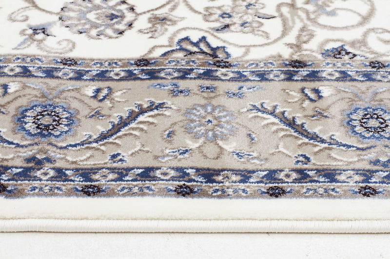 Sydney Medallion Rug White with Beige Border - aladdinrugs - 3