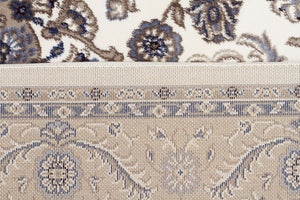 Sydney Medallion Rug White with Beige Border - aladdinrugs - 6