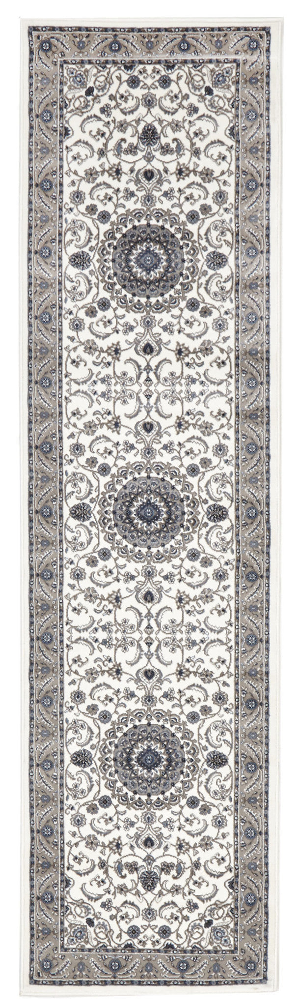 Sydney Medallion Rug White with Beige Border - aladdinrugs - 5