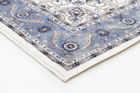 Sydney Medallion Rug White with Blue Border - aladdinrugs - 2