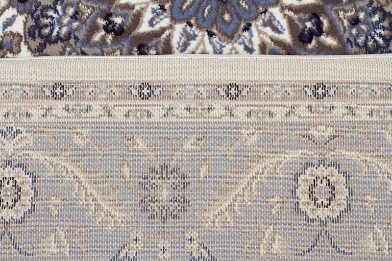 Sydney Medallion Rug White with Blue Border - aladdinrugs - 6