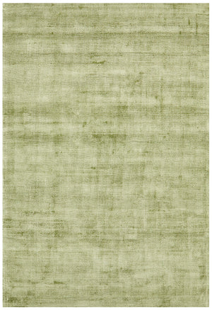 Luxe Modern Distressed Rug Green
