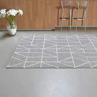 Scion Viso Rugs 24004 Steel