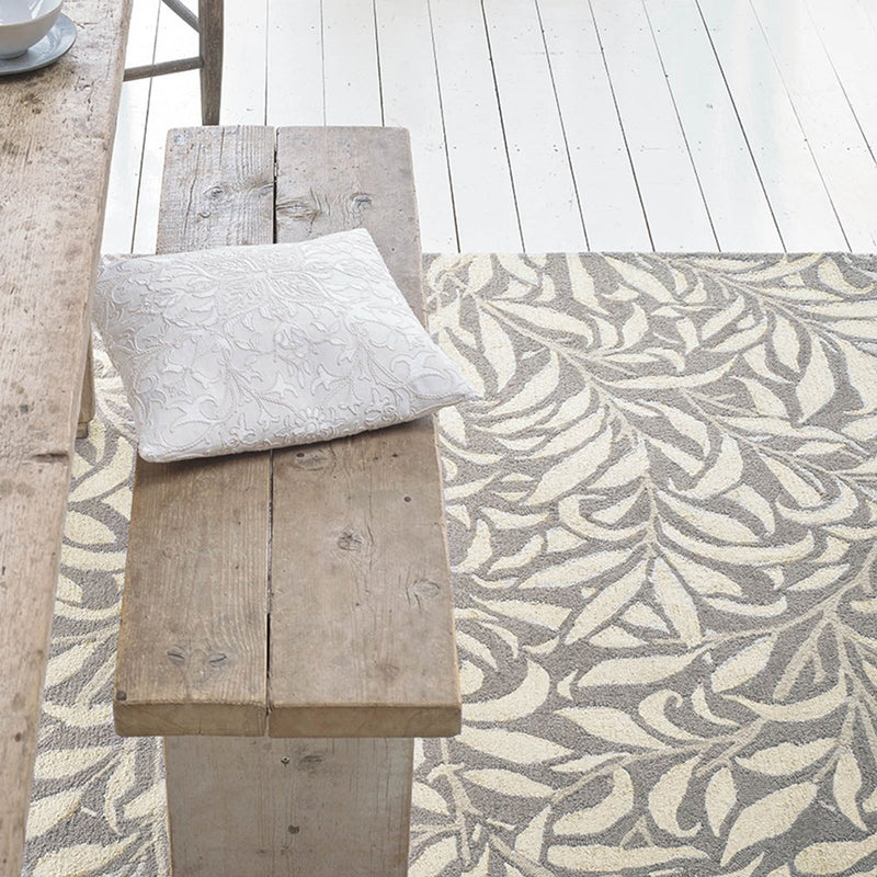 Willow bough rugs 28304 in mole by william morris