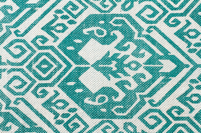 Aztec Parade Turquoise Rug