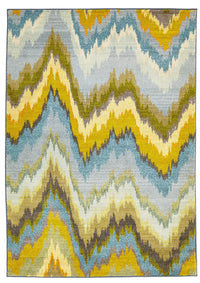Rug Culture Kaleidoscope 103 Blue - aladdinrugs - 1