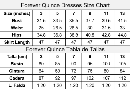 Forever Quince Size Chart