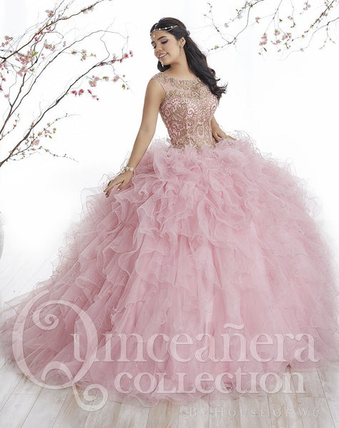 House of Wu Quinceanera Dress Style 26835 Blush Pink