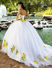 2 Piece Floral Embellished Quinceanera Dress by Camila Q Q1001-Quinceanera Dresses-ABC Fashion