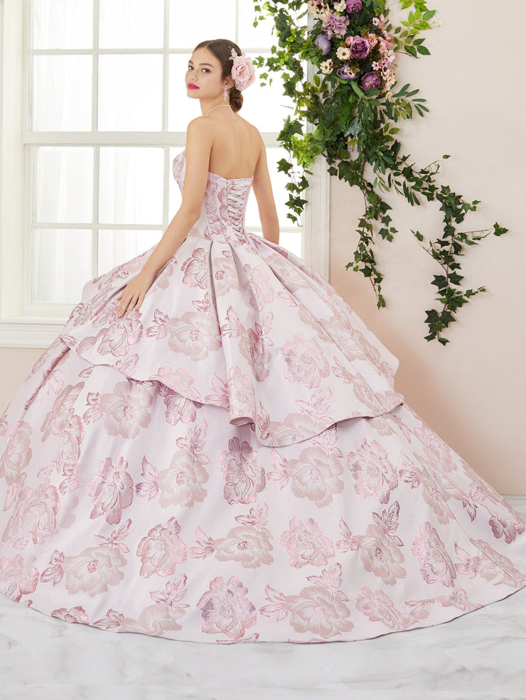 2 Piece Floral Print Quinceanera Dress by House of Wu 26967