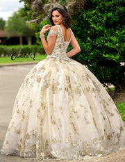 2 Piece Glitter Applique Quinceanera Dress by Camila Q Q1009-Quinceanera Dresses-ABC Fashion