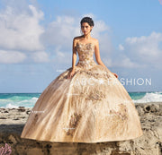 2 Piece Glitter Quinceanera Dress by Ragazza D10-510