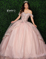 2 Piece Glitter Sweetheart Quinceanera Dress by Camila Q Q1004-Quinceanera Dresses-ABC Fashion