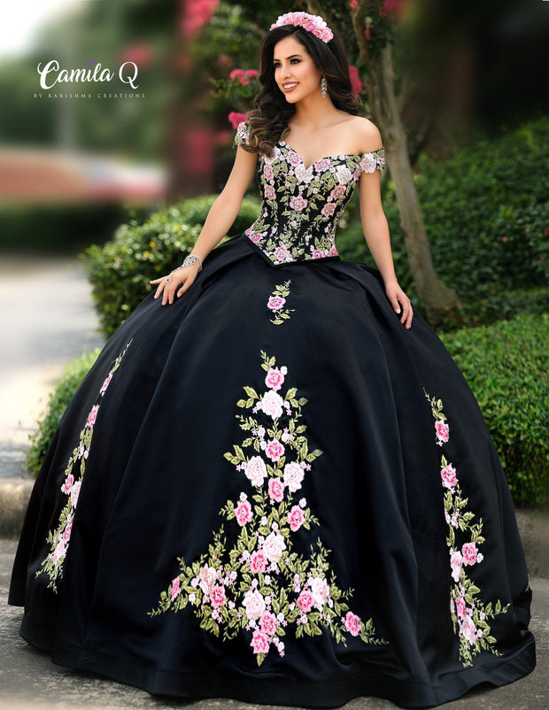 2 Piece Off Shoulder Floral Quinceanera Dress by Camila Q Q1006-Quinceanera Dresses-ABC Fashion