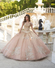 2 Piece Gold Quinceanera Dress by Ragazza D33-533