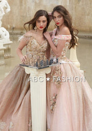 2-Piece Off Shoulder Quinceanera Dress by Ragazza Fashion D33-533