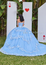 2 Piece Sky Blue Quinceanera Dress by Ragazza D53-553