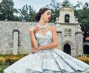 2 Piece Strapless Floral Print Quinceanera Dress by House of Wu 26947-Quinceanera Dresses-ABC Fashion