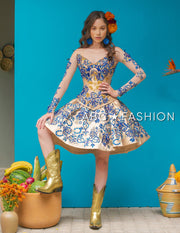 3-Piece Charro Quince Dress by Ragazza M26-126