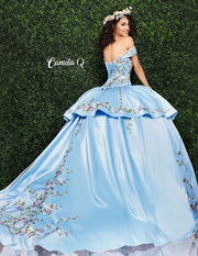 3 Piece Floral Embroidered Quinceanera Dress by Camila Q Q1002-Quinceanera Dresses-ABC Fashion