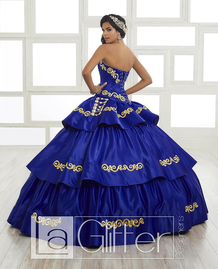 3-Piece Tiered Charro Dress by House of Wu LA Glitter 24022-Quinceanera Dresses-ABC Fashion