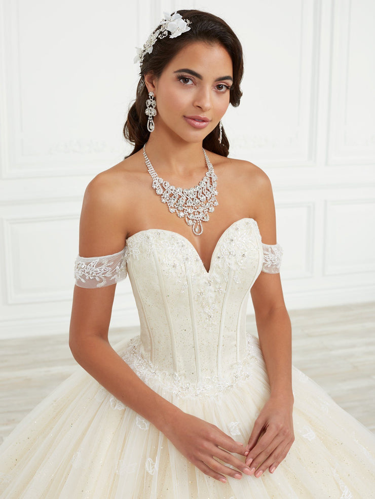 3D Applique Quinceanera Dress by House of Wu 26975