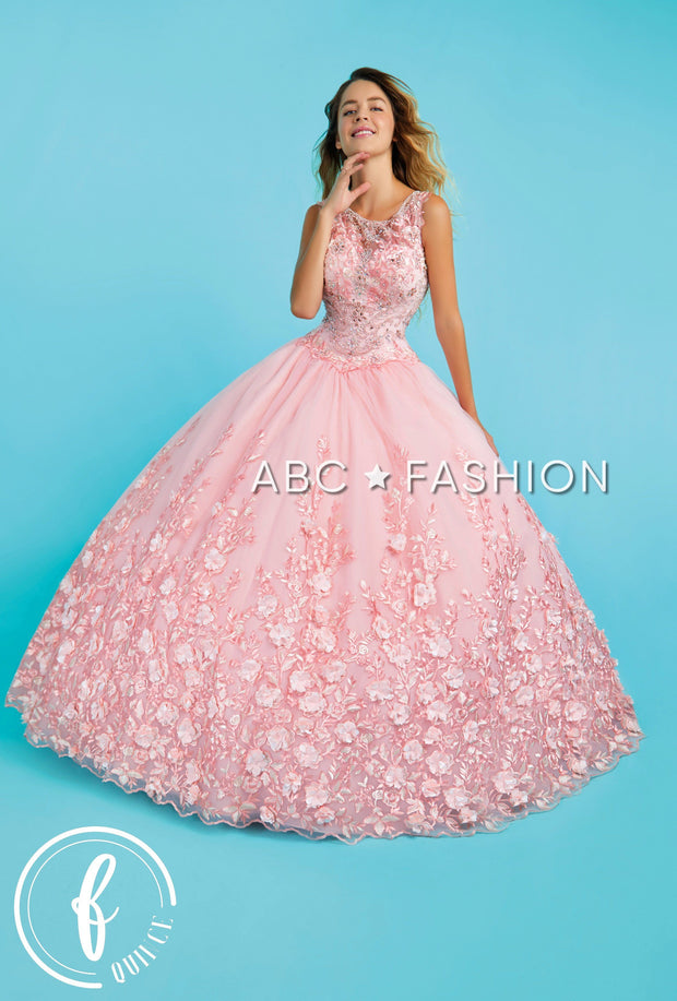 3D Floral Applique Quinceanera Dress by Forever Quince FQ825